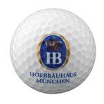 Golfbälle bedrucken, Oktoberfest, Hofbräuhaus München Golfbälle, Bedruckte Golfbälle, Bayern Golfartikel