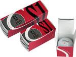 Golfball-Verpackungen, Golfball-Schachteln, Holztee-Verpackung, Werbemittel-Verpackung, Golfwerbemittel, Individuelle-Verpackungen, Golfbälle-Verpacken, 1-er-Golfball-Schachtel, 2-er-Golfball-Schachte