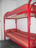 twin bedroom: bunk bed