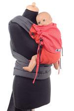 Huckepack Mei Tai, Babytrage ab Geburt, stufenlos mitwachsende Tragehilfe, gepolsterte Träger und Hüftgurt zum Binden.