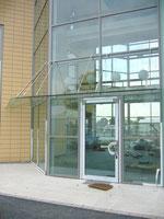 Pfosten-Riegel Glasvordach
