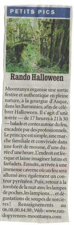 Journal la République / la Dépêche 29/10/09