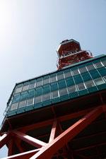日本 北海道札幌大通りにあるテレビ塔