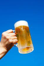 青空とビールを片手に3