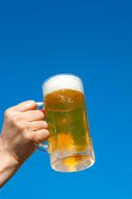 青空とビールを片手に4