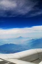 飛行機からの眺め7富士山