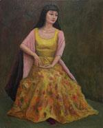 黄色いドレス          (油彩・F15 )