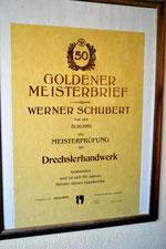 "Bild: Wünschendorf Holzdrechslerei Schubert ""Goldener Meisterbrief"""