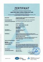 Zertifikat für tragende Stahltragwerke bis EXC2 nach EN 1090-2