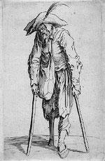 mendiant à la jambe de bois graveur Jacques Callot 1622