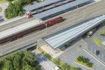 Vogelperspektive Neu-Bahnhof Horn Pro FJB