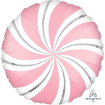 GLOBO CARAMELO DE ROSA CHICLE 45 CM FOIL 4,95€ CON HELIO