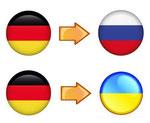 Deutsch nach Russisch und Ukrainisch