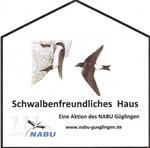 Auszeichnung des NABU für Hausbesitzer mit einem Herz für Schwalben