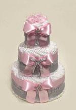 ВИП подарок для маленькой девочки - роскошный торт с памперсами.
