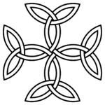 """La croix des triquetras ou """"Croix Carolingienne"""