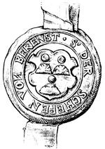Schöffensiegel Berenstein aus dem Jahr 1539