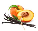 Vanillearoma mit Fruchtliquid, Pfirsich und Vanille als Mix im Liquid