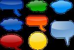 Sprechblasen, Kommunikation, Wünsche