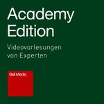 Academy Edition - Videovorlesungen von Experten, Logo mit weißer Schrift auf grünem Quadrat