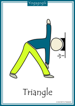 Kinderyoga Flashcards Triangle