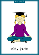 Yoga for Kids Flashcards Easy Pose