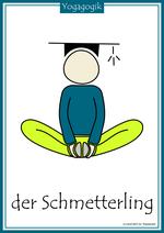 Kinderyoga Flashcards Schmetterling