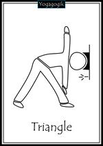 Kinderyoga Ausmalbilder Triangle