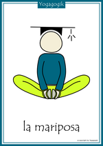 Kinderyoga Flashcards Mariposa