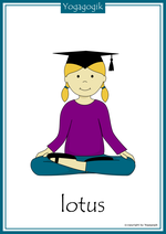Yoga for Kids Flashcards Lotus