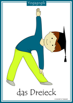 Kinderyoga Flashcards Dreieck