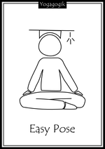 Kinderyoga Ausmalbilder Easy Pose