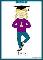 Yoga for Kids Flashcards Tree Yolanda