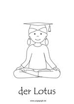 Kinderyoga Ausmalbild Lotus