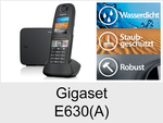 Gigaset E630 + E630A: Schnurloses Telefon (Robust)