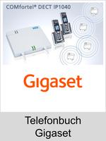 Auerswald Upgrade-Center - Funktionserweiterungen und Freischaltungen für Anlagen und Telefone: Telefonbuch Gigaset