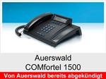 Auerswald COMfortel 1500: Schnurgebundenes ISDN-Systemtelefon ohne Headsetanschluss