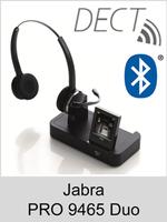 Jabra PRO 9465 Duo: Schnurloses DECT-Headset mit Softphone-Unterstützung und Bluetooth-Schnittstelle