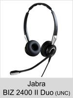 Jabra BIZ 2400 II Duo: Schnurgebundenes Headset für laute Umgebung (UNC 72)