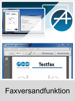 Auerswald Upgrade-Center - Funktionserweiterungen und Freischaltungen für Anlagen und Telefone: Faxversandfunktion