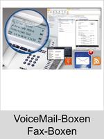 Auerswald Upgrade-Center - Funktionserweiterungen und Freischaltungen für Anlagen und Telefone: VoiceMail-/Fax-Boxen
