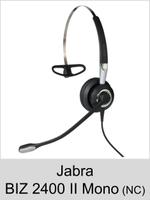 Jabra BIZ 2400 II Mono: Schnurgebundenes Headset für normale Umgebung (NC 82)