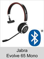 Jabra Evolve 65 Mono: Schnurloses Bluetooth Headset mit Kopfbügel