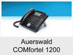 Auerswald COMfortel 1200: Schnurgebundenes ISDN-Systemtelefon ohne Headsetanschluss