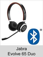 Jabra Evolve 65 Duo: Schnurloses Bluetooth Headset mit Kopfbügel