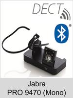 Jabra PRO 9470 (Mono): Schnurloses DECT-Headset mit Softphone-Unterstützung und Bluetooth-Schnittstelle