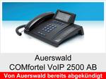 Auerswald COMfortel VoIP 2500 AB: Schnurgebundenes Systemtelefon mit DHSG-Unterstützung