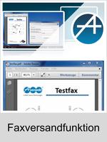 Freischaltungen und Funktionserweiterungen: Dongle-Freigabe, Freischaltcode, Aktivierung für Telefonanlagen: Faxversandfunktion
