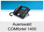 Auerswald COMfortel 1400: Schnurgebundenes ISDN-Systemtelefon mit Headsetanschluss