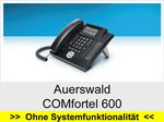 Auerswald COMfortel 600: Schnurgebundenes analoges Telefon mit Headsetanschluss